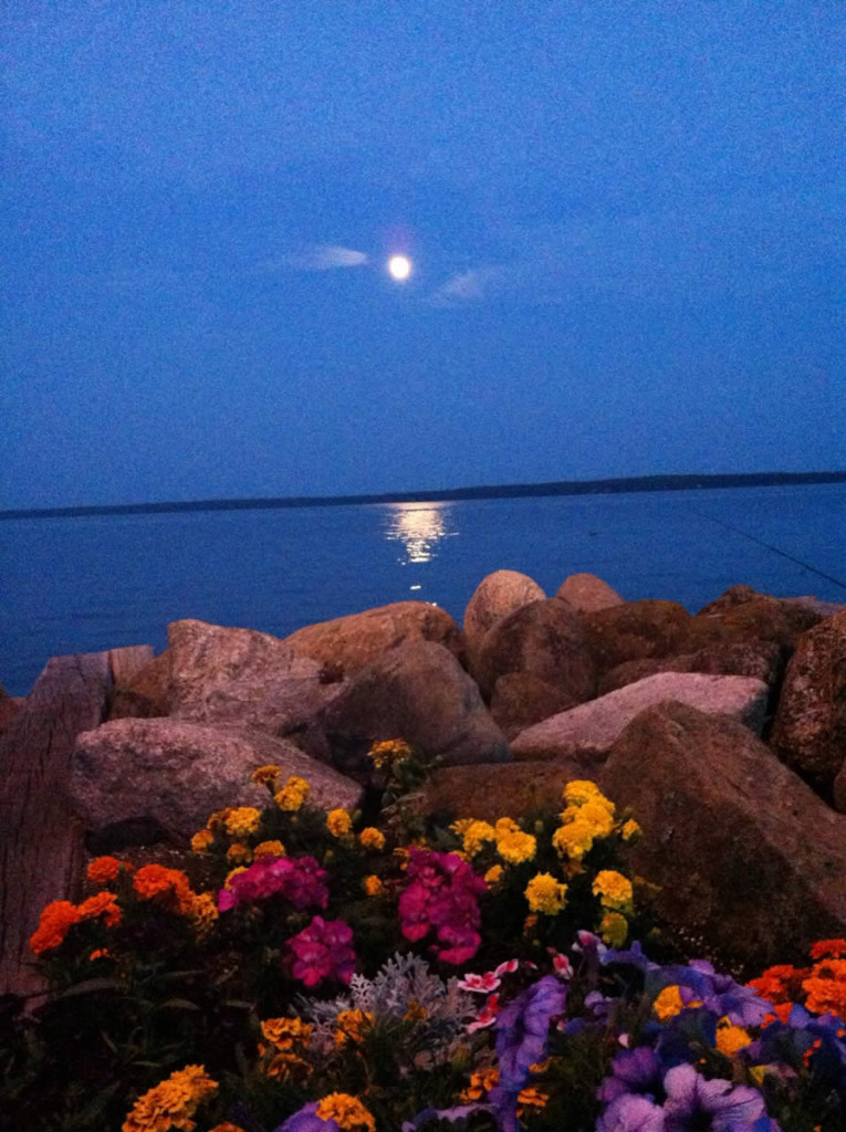 Moon Over Lake Superior